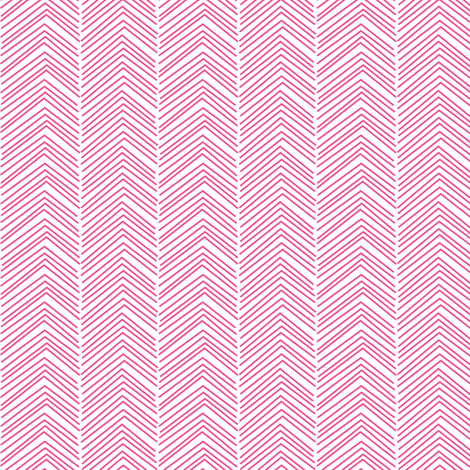 chevron ♥ dark pink and white fabric by misstiina on Spoonflower - custom fabric