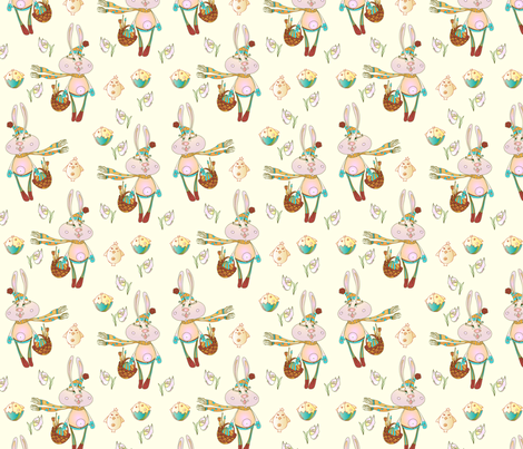 seamless easter pattern fabric by abbilder on Spoonflower - custom fabric