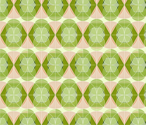 Retro geometric 1 fabric by heleenvanbuul on Spoonflower - custom fabric