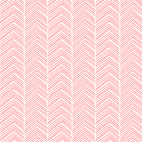 chevron ♥ coral and white fabric by misstiina on Spoonflower - custom fabric