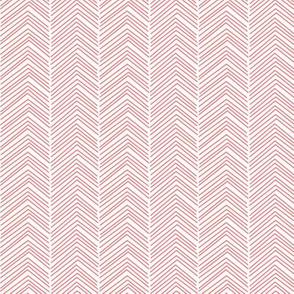chevron  coral and white