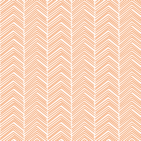 chevron ♥ orange and white fabric by misstiina on Spoonflower - custom fabric