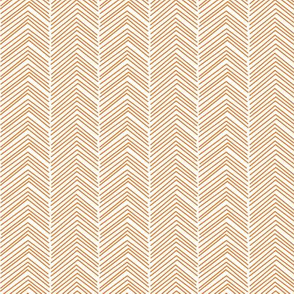 chevron ♥ orange and white