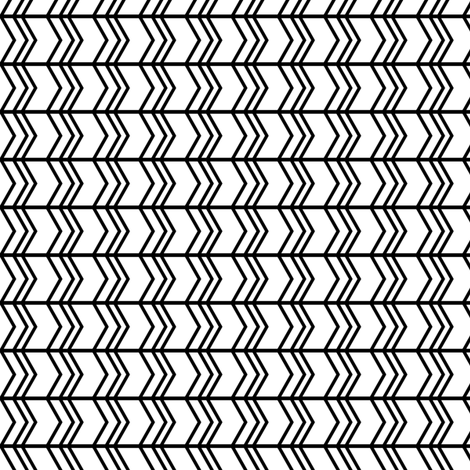 black + white chevron zigzags horizontal fabric by misstiina on Spoonflower - custom fabric