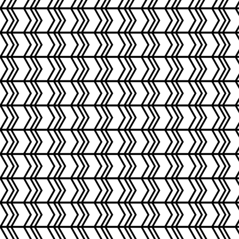 black + white chevron zigzags horizontal fabric by misstiina on Spoonflower - custom fabric