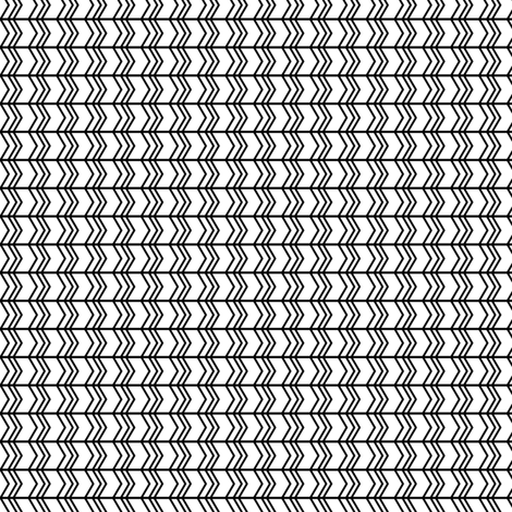 black and white chevron zigzags fabric by misstiina on Spoonflower - custom fabric
