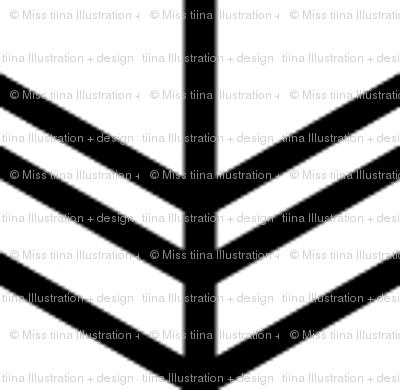 black + white chevron zigzags vertical