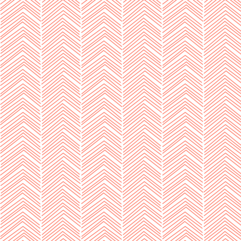 chevron love peach fabric by misstiina on Spoonflower - custom fabric