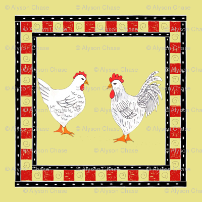 chickens and checks