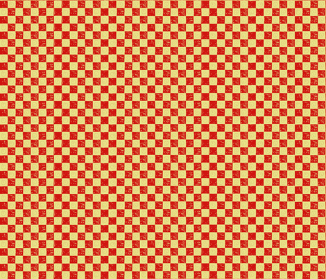 checkerboardandswirlsredgold fabric by alyson_chase on Spoonflower - custom fabric