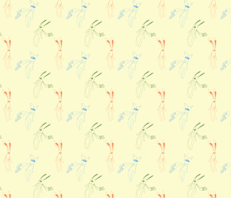 pattern with rabbit,cat fabric by abbilder on Spoonflower - custom fabric