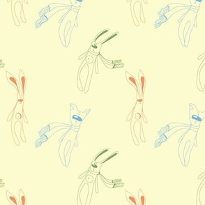 pattern with rabbit,cat