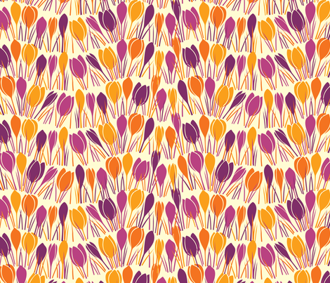 Vernal Equinox - crocus fabric by jennartdesigns on Spoonflower - custom fabric