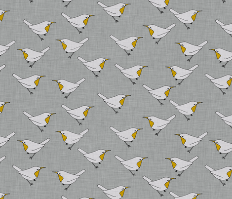 birds_linen fabric by holli_zollinger on Spoonflower - custom fabric