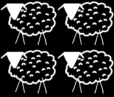 Baaaaa! inverted (or Aaaaab!) (large scale repeat) fabric by anniedeb on Spoonflower - custom fabric
