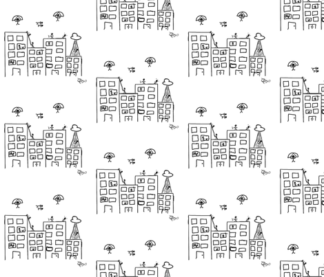 Stick City fabric by 23burtonavenue on Spoonflower - custom fabric