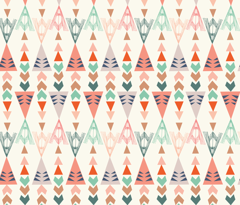 triangles big fabric by bethan_janine on Spoonflower - custom fabric