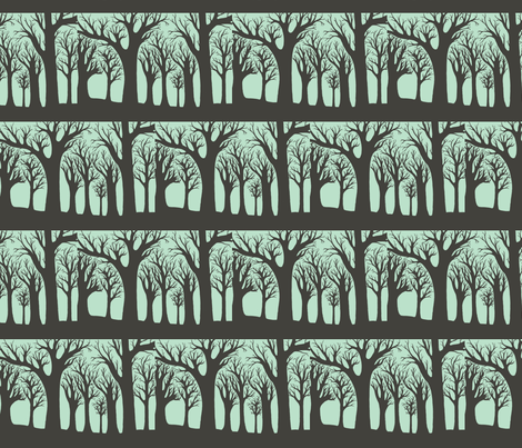 winter woods fabric by iamseamonster on Spoonflower - custom fabric