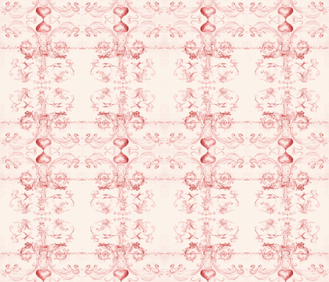 angel_2013-red fabric by mjw23 on Spoonflower - custom fabric