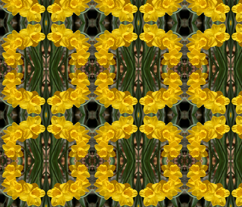 Daffodils_6465 fabric by falcon11 on Spoonflower - custom fabric