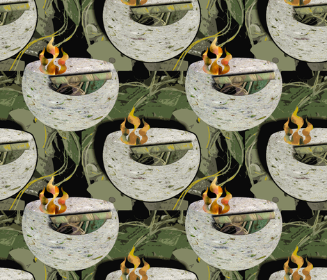 Eternal Flame fabric by anniedeb on Spoonflower - custom fabric