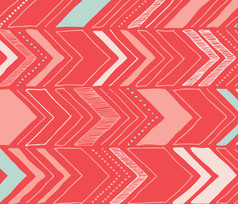 Chevron - coral fabric by flytrap on Spoonflower - custom fabric