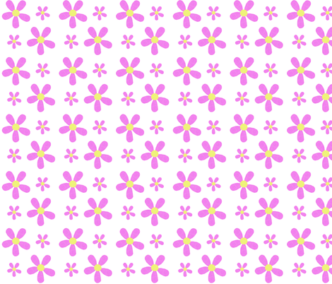 Purple Flower Power on White fabric by arttreedesigns on Spoonflower - custom fabric