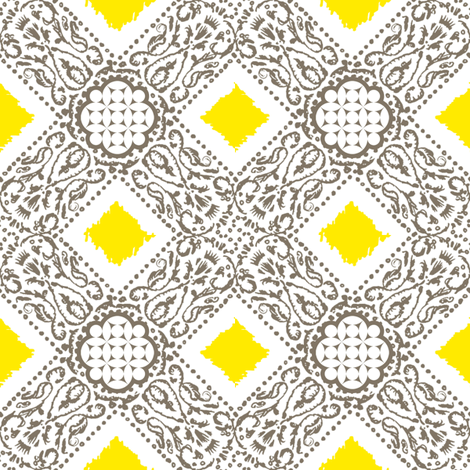 EXOTICO - pebble and lemon  fabric by marcador on Spoonflower - custom fabric
