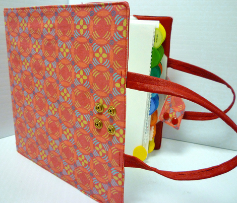 Binder Carrier in Red Matisse Print