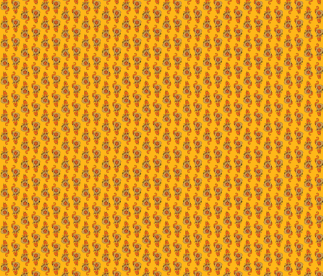 Custard. The Magic Dice Dragon fabric by malevolence on Spoonflower - custom fabric