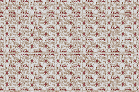 Darling its Spring (red) fabric by toknight on Spoonflower - custom fabric