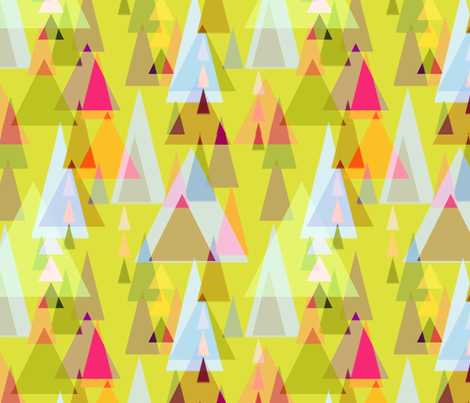 Triangle forest fabric by keweenawchris on Spoonflower - custom fabric