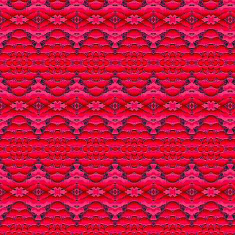 red diamonds with flowers1 fabric by dk_designs on Spoonflower - custom fabric