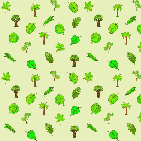 Spring Foliage fabric by ravynscache on Spoonflower - custom fabric