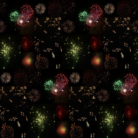 Fireworks (Black) fabric by ravynscache on Spoonflower - custom fabric