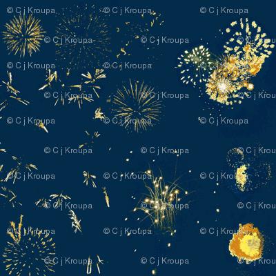 Fireworks (Blue)