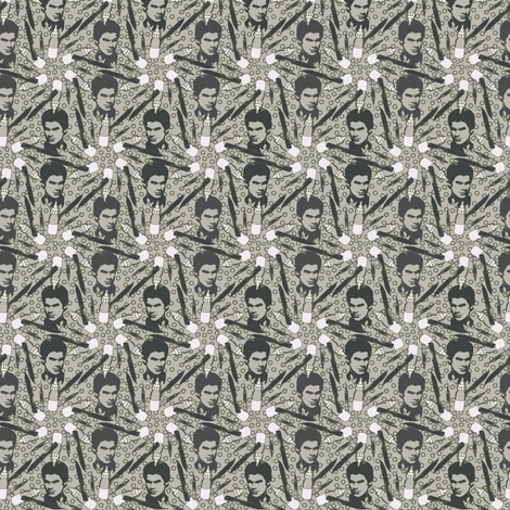 Dexter beige/army fabric by sydama on Spoonflower - custom fabric