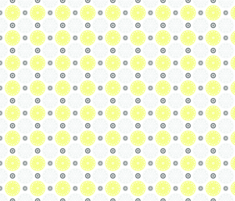 Medallion fabric - white background fabric by cameronhomemade on Spoonflower - custom fabric
