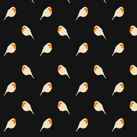 Repeating Robin fabric by rikkib on Spoonflower - custom fabric