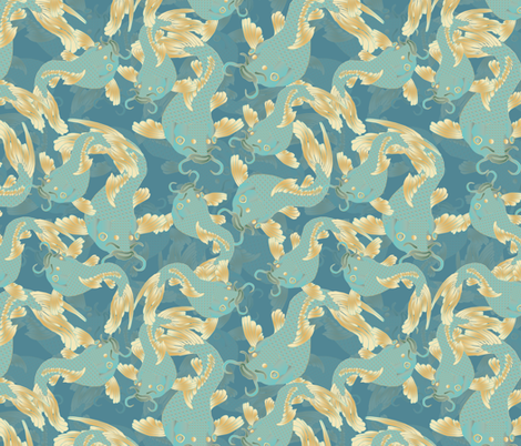 shoal of koi fabric by kociara on Spoonflower - custom fabric
