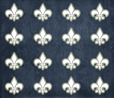 Fleur De Lis fabric by campbellcreative on Spoonflower - custom fabric