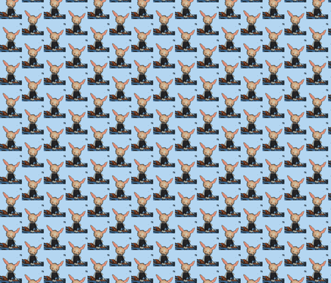 Bunny Blue McAvoy fabric by janshackelford on Spoonflower - custom fabric