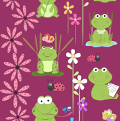 frogs and flowers