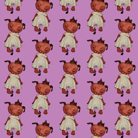 Monster  in Purple fabric by janshackelford on Spoonflower - custom fabric