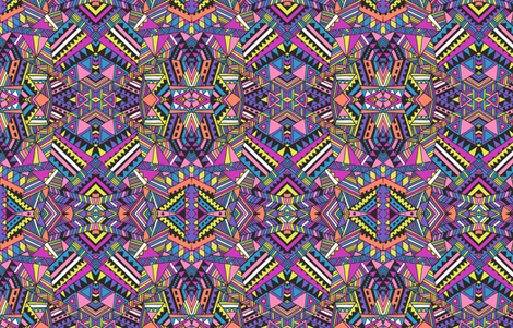 Aztec mirror_neon fabric by chulabird on Spoonflower - custom fabric