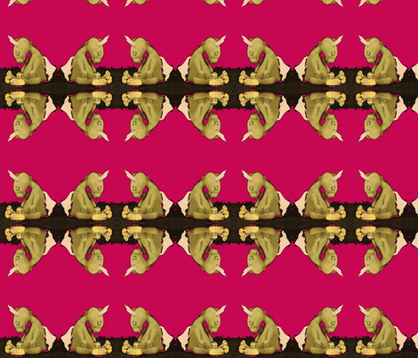Dragon by Jan Shackelford fabric by janshackelford on Spoonflower - custom fabric