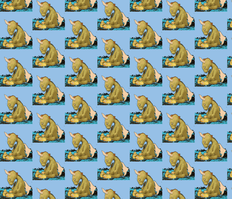 Dragon. Blue  fabric by janshackelford on Spoonflower - custom fabric