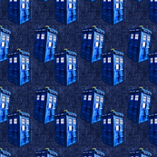 Doctor Who Inspired TARDIS  &quot;Denim&quot; Quilt Blocks