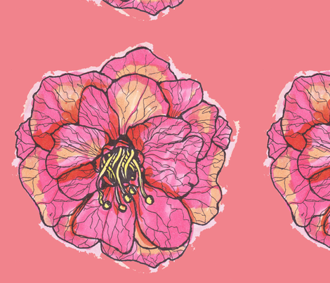 flowerwithcoral fabric by artthatmoves on Spoonflower - custom fabric