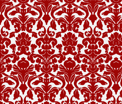 Cherry Damask fabric by nola_original on Spoonflower - custom fabric